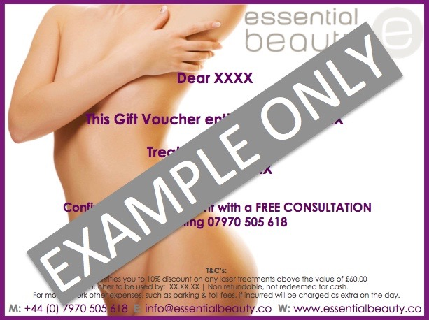 Gift Voucher Example Only
